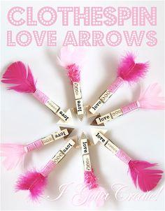 clothespin, arrow
