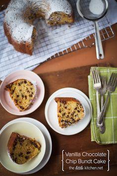 Vanilla Chocolate Chip Bundt Cake :: The Little Kitchen