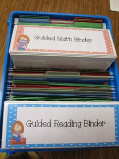 Guided Math/Reading Organization