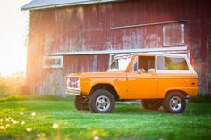 Love Early Bronco's and barn pictures.  This Orange really pops too.