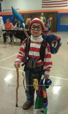 Spruced-Up Where's Waldo Costume for a Boy... Coolest Halloween Costume Contest