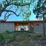 Kanga Modern Cabin 14x20 + 14x16 w connecting porch/breezway Placed on top of the Texas Hill Country. This Kanga modern cabin captures 360 degree scenic views. The 14x20 unit features kitchen and living area while the 14x16 units holds the bedroom, bath and utility closet.