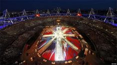 An overview of the Olympic Stadium during the closing ceremony of the London 2012 Olympic Games