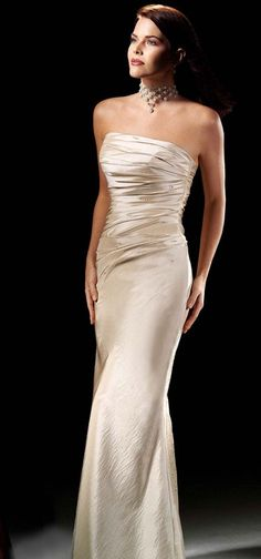 Strapless taffeta dress with dropped waist - Click image to find more Women's Apparel Pinterest pins wedding dressses, evening dresses, black weddings, bridesmaid dresses, taffeta dress, black wedding dresses, dress styles, strapless taffeta, drop waist