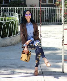 Lilia Cortes with her Carlota flats, available at www.lolyinthesky.com for $49.99