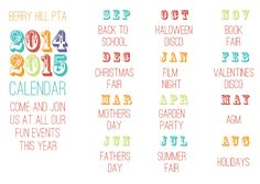 2014-2015 Calendar  Published PTA Templates and Kits - Published PTA Templates and Poster Kits