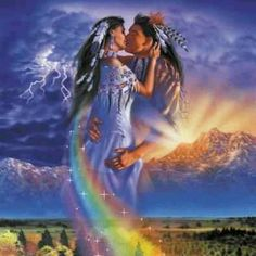 Native American Indian Love Couple