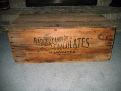 Sale Take 10% Off Antique Wooden Chocolate Candy Shipping Crate Box (Badger Milwaukee Candy Company). $100.00, via Etsy.