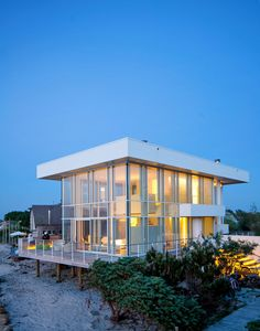 This stunning home is located in Fair Harbor, a hamlet located near the western end of Fire Island, Long Island, New York.