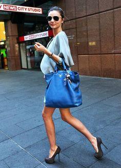bag and stilettos!