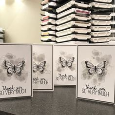 Have been able to craft in too long so started tonight with a CASE of a gorgeous creation by Margriet Tournier. You're going to LOVE this gorgeous FREE Sale-a-bration DSP paired with the beautiful upcoming butterfly punch!! Getting my club thank you cards done for January now:) #northshorestamper #stampinupcanada #stampinup #papercrafting #cardmaking #saleabration2019 #thankyoucard