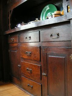 Built in buffet with original hammered hardware. Featured in OHJ in Jan 2009.