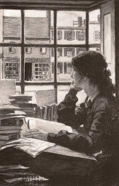dibujo deJessie Wilcox Smith (1863-1935)