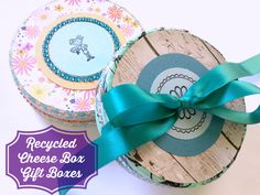 Recycled Cheese Box Gift Boxes