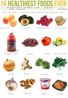 16 Healthiest Foods EVER #exercise