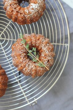 Orange Cardamom Mini Bundt Cakes