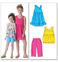 Children's/Girls' Tops, Dresses, Shorts and Pants