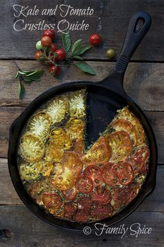 Summer Harvest: Kale and Heirloom Tomato Crustless Quiche - Family Spice – ENJI Daily