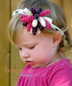 CROCHET PATTERN  Korker Bow Headband  Any Size  by BusyMomDesigns,