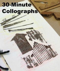 30-Minute Collograph Printmaking » K - 6 Art K – 6 Art