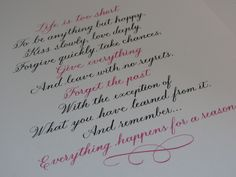 Everything happens for a reason... #calligraphy #competition