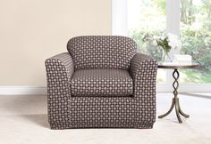 Sure Fit Slipcovers Stretch Box Links Separate Seat Slipcovers - Chair