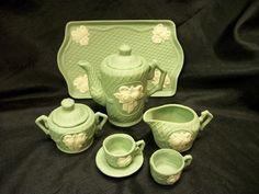 child's vintage tea set
