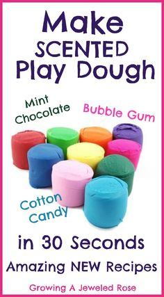 Make a variety of scented play doughs in just seconds.  Amazing NEW varieties like cotton candy, bubble gum, and satrawberry shortcake!