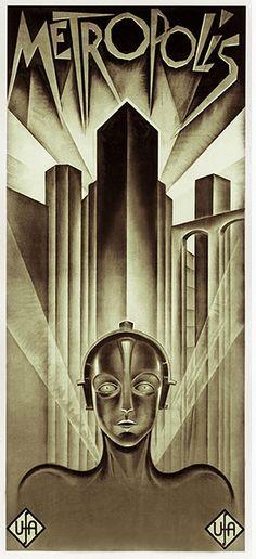 The international version of the Metropolis poster by Heinz Schulz-Neudamm, 1927.