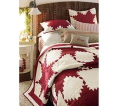 REd Feather Quilt from Pottery Barn