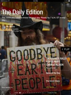 Climate March draws thousands, why scientists say we need work breaks and an NFL recap. Check out today's edition: flip.it/dailyedition