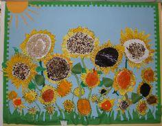 Van Gogh's Sunflowers: classroom display