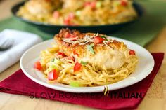 The Slow Roasted Italian - Printable Recipes: Olive Garden Copycat Chicken Vino Bianco