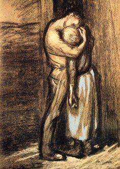 Théophile Steinlen (1859 – 1923) - The Kiss