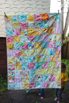 vintage sheet patchwork quilt