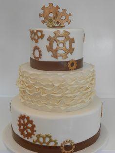 steam punk wedding cakes, weddings, punk cake, steampunk, spectacular steam