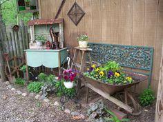 Julie Brown's Flea Market Garden