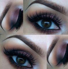 Burgundy eyeshadow makeup look #eyes