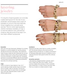 Layering jewelry tips thanks to Cupcakes & Cashmere