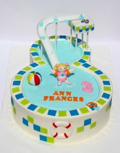 Pool Party Cake!