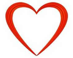 Heart Clip Transparent Background Red