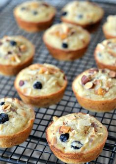 Banana Trail Mix Muffins using spelt flour, coconut oil and sweetened with honey | mountainmamacooks.com #snackbetter #sahalesnacks