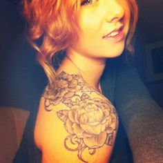 Rose shoulder tattoo  this is kinda similar to mine