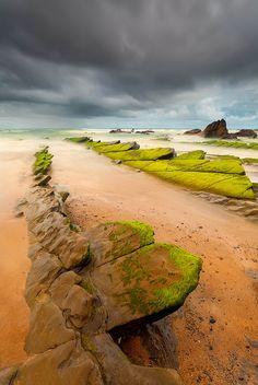 Barrika, Baskenland, Spanje  playa de Barrika (Barrika Beach), Basque Country, Spain http://www.naturescanner.nl/europa/spanje/noord-spanje