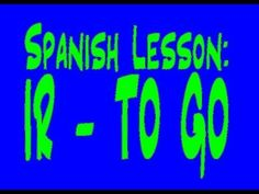 This video is to quickly review and practice using the verb Ir - To go, in Spanish. If you haven't yet learned the verb, there is a link in the video that will take you to my first video on the verb.