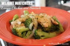 Weight Watchers Lemon Chicken and Broccoli   No Thanks to Cake