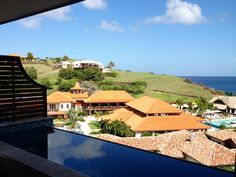 The view from suite 3403, a 4th floor One Bedroom Oceanview Skypool Butler Suite with Veranda at the brand new, all-inclusive, couples only Sandals LaSource Resort in Grenada