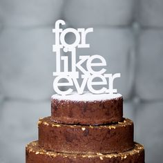 for like ever wedding cake topper in white gold by OhDierLiving, $28.00