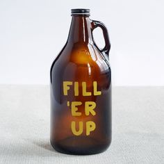 Exclusive to west elm Market, the Fill 'er Up growler is an effective way to store and transport your beer. Equally suited for tailgating season as it is for keeping homemade microbrews fresh, it makes a great gift.
