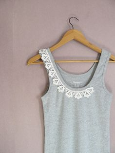 COQUINE embellished women tank top  size S , M, L or XL. $40,00, via Etsy.